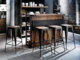 tabouret design cuisine tabourets cuisine industriel vintage noir bois kitchen