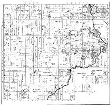 Illinois Township Map by Irishtown Township 1892 Plat Map Clinton County Il