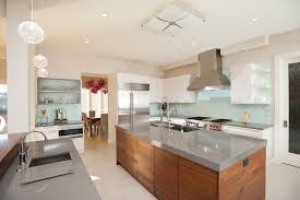 tempered glass countertop kitchen contemporary with aqua glass