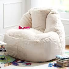 fur bean bag cream plush lounger ivory u0026 deene u2013 ivory