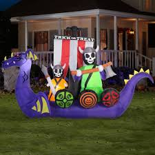Halloween Inflatables Videos by Gemmy Airblown Inflatable 7 5 U0027 X 12 U0027 Giant Animated Viking Ship