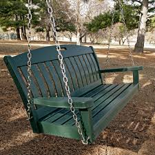 polywood nautical 4 ft recycled plastic porch swing hunter