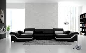 Black And White Sectional Sofa Modern Contemporary Sectional Black Snow White