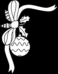 porch clipart christmas ornament black and white designcorner