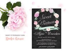 Black Invitation Card Sweet Sixteen Party Invitations Card Admirable Sweet Sixteen