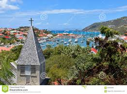 St Barts Map by St Barts Gustavia French West Indies Stock Photo Image 69483686
