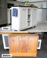 diy kitchen island made from a 5 garage sale cabinet