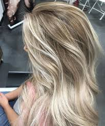 does hair look like ombre when highlights growing out messy dark blonde hair with vanilla blonde balayage and chunky