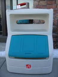 Step2 Lift Hide Bookcase Storage Chest Blue Bench Little Tikes Storage Bench Toy Chest Little Tikes Outdoor
