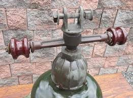antique gas station lights for sale vintage industrial machine age green porcelain gas station light