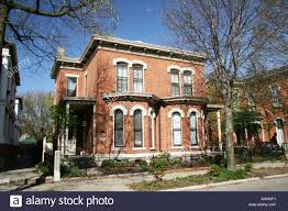 house in oregon district in dayton ohio usa placcard indicates dr