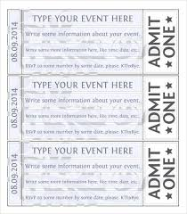 ticket template free word event ticket template templates for