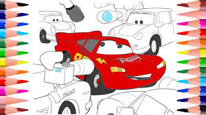 coloring disney cars coloring pages lightning mcqueen interview