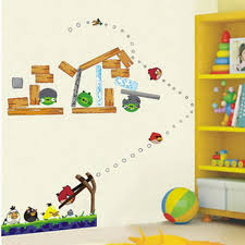 Give Kids Bedroom Walls Designs Ideas With Angry Birds Wall - Childrens bedroom wall designs