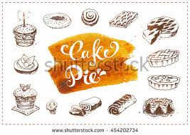 vector watercolor cakes collection download free vector art