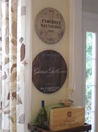 that mommy blog ballard designs knock off wine barrel plaques