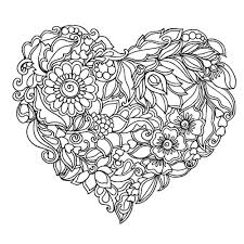 heart coloring pages adults printable tiny draw paint
