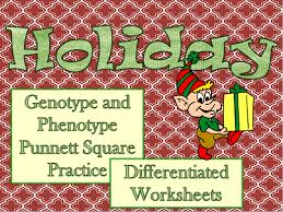 teaching with elly thorsen winter holiday genetics worksheets