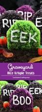 Halloween Cake Graveyard by Graveyard Rice Krispie Treats Two Sisters Crafting