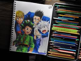 request hunter x hunter color drawing by tak17hiro on deviantart