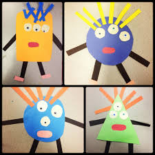 geometric monsters art lesson special education pre