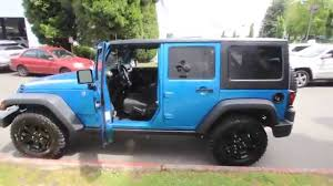 2014 jeep wrangler willys for sale 2014 jeep wrangler unlimied sport willy s wheeler blue