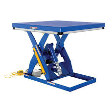 used electric lift table vestil 4 000 lb 48 in x 48 in electric hydraulic scissor lift