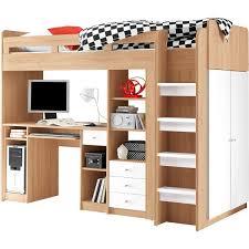 Schlafzimmer Schrank Von Poco Hochbett Unit Ii Eiche Sonoma Weiß Nachbildung Ca 90 X 200 Cm