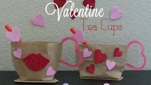 Ideas For Homemade Valentine Decorations by Valentines Craft Idea Valentines Diy Tea Cup Gift Bag Youtube