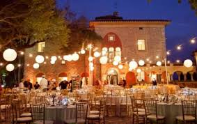 paper lanterns with lights for weddings elegant outdoor wedding decoration idea using paper lanterns and