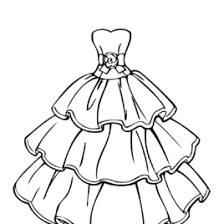 wedding dress coloring girls printable free coloring