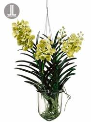 vanda orchids 31 artificial vanda orchid hanging plant in glass vase silk