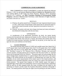 free commercial lease agreement template download 101 free