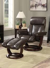 reclining back chair with ottoman the via thomasville burnett top grain leather reclining chair and