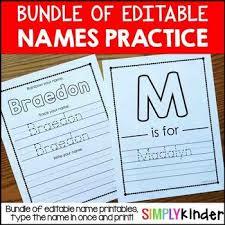names editable names activities name printables by simply kinder