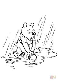 Winnie The Pooh In The Rainy Day Coloring Page Free Printable Rainy Day Coloring Pages