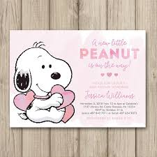 peanut baby shower snoopy baby shower invitation peanuts baby shower invitation