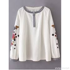 embroidered blouses flower embroidered blouse white blouses m z1fokujj