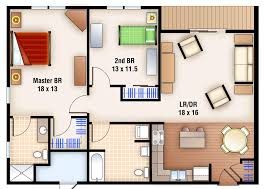 Studio Apartment Floor Plans Two Bedroom Apartment Floor Plans