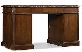 Slaters Furniture Modesto by Hooker Furniture Home Office Moulded Double Pedestal Desk