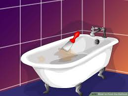 How To Get Rust Out Of Bathtub How To Paint The Bathtub With Pictures Wikihow