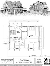 Floor Plans For Log Cabins Home Plans Small Designs Open Floor Vacation With Loft Plan Hahnow