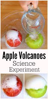 apple volcanoes science experiment the resourceful