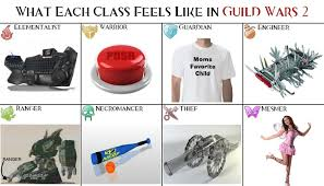 Guild Wars 2 Meme - looking for the guild wars 2 professions as instruments meme