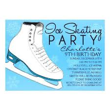 custom invites idea skating birthday invitations and sky blue skate mates
