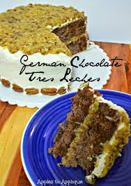 apples to applique german chocolate tres leches