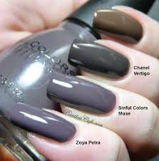 nail polish swatches comparison sinful colors muse vs zoya petra