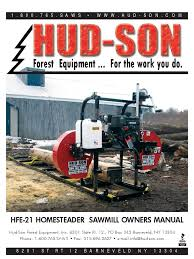 sawmill owners manual hfe 21 2012 revised nut hardware