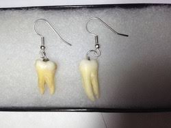 human earrings earrings human bone jewelry