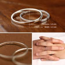 1 5 mm wedding band ph7 handmade couples rings 1 5mm wide polished thin ring band